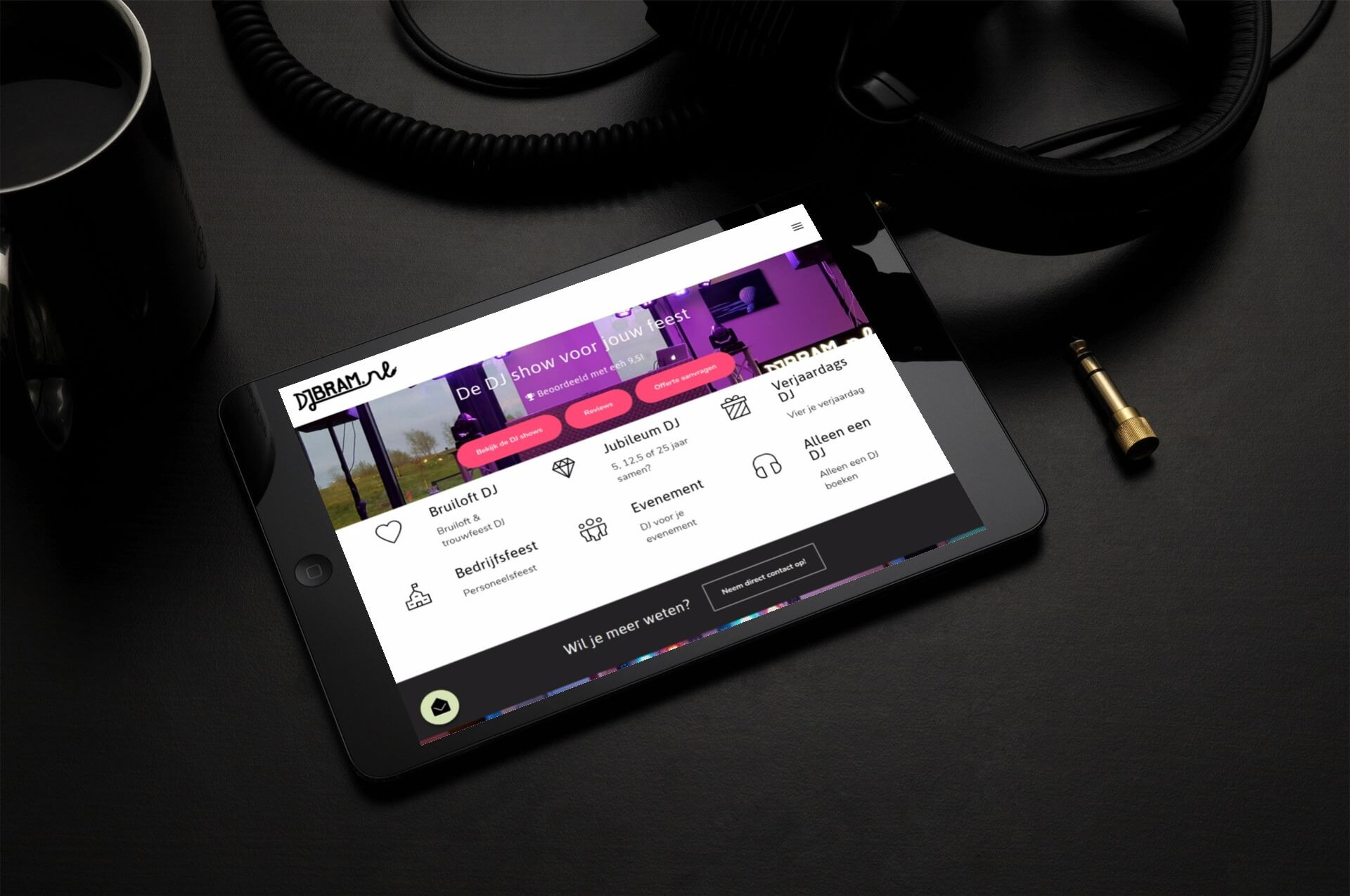djbram.nl tablet