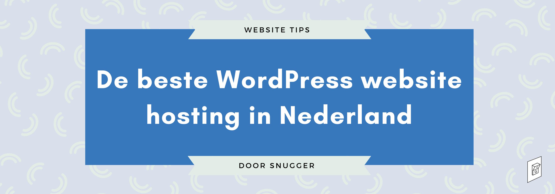 Beste WordPress website hosting in Nederland
