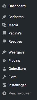 WordPress handleiding de dashboard knoppen