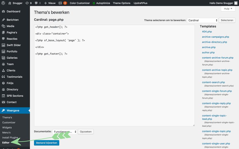 WordPress handleiding editor