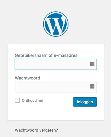 WordPress handleiding inloggen op je wordpress website