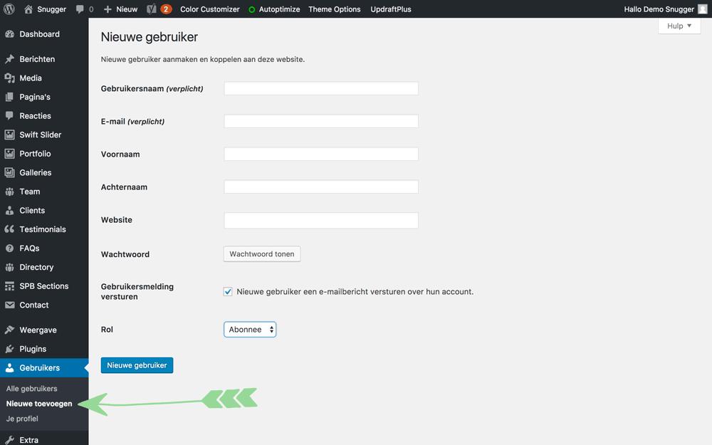 WordPress handleiding nieuwe gebruiker