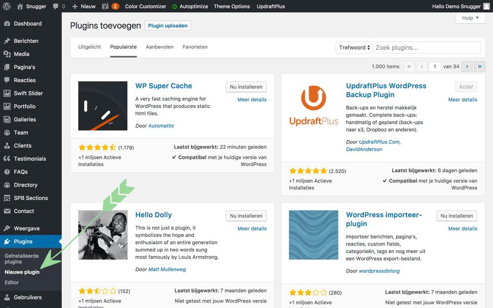 WordPress handleiding plugin-toevoegen