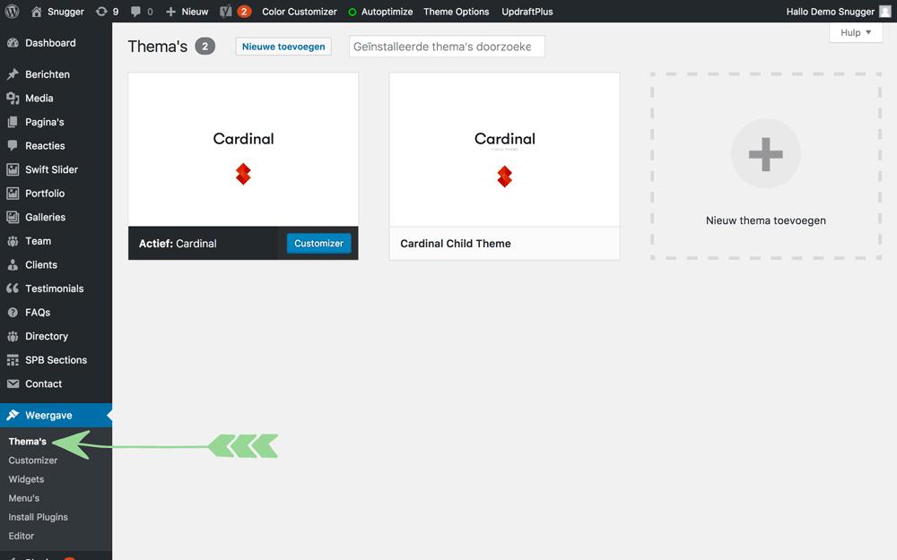 WordPress handleiding thema's