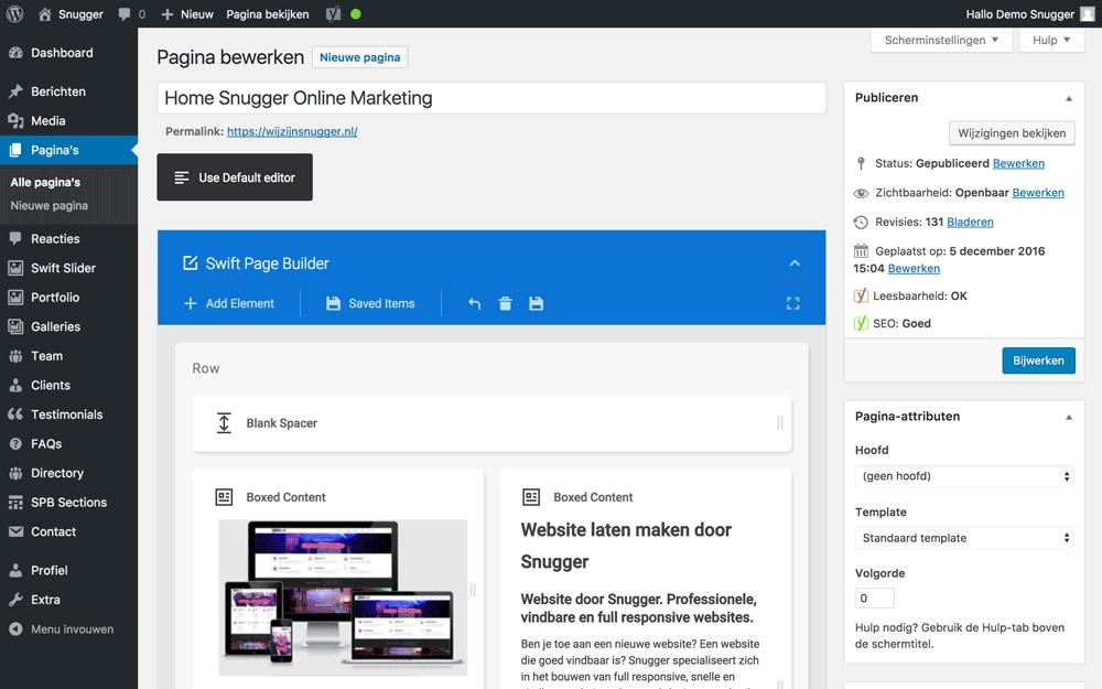 wordpress handleiding pagina bewerken