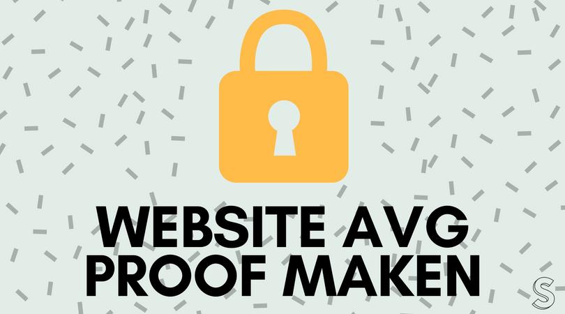 Website of webshop AVG proof maken