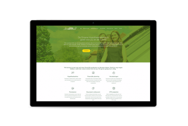 De groene hypotheekadviseurs tablet Snugger